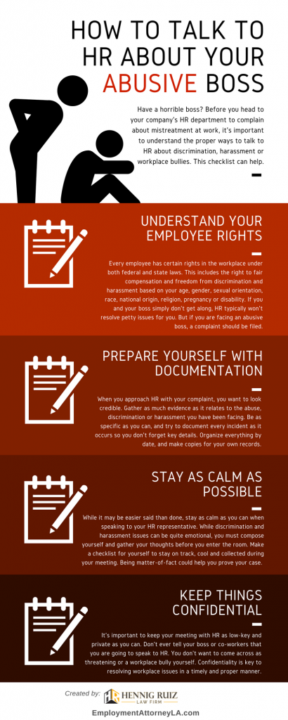 How to Complain to HR About Your Boss Infographic